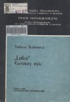 """Budrewicz, Tadeusz (1951- ), 1990, """"Lalka"""" : konteksty stylu"""