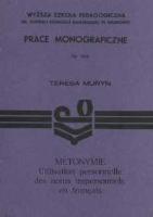 Muryn, Teresa (1952- ), 1991, Métonymie : utilisation personnelle des noms impersonnels en français