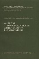 Lach, Jan (1938- ), 1981, Warunki hydrogeologiczne województwa tarnowskiego