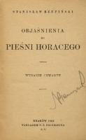 Objaśnienia Do Pieśni Horacego
