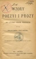 Wzory Poezyi I Prozy Do Użytku Szkół średnich
